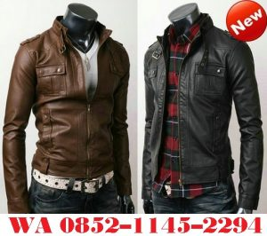 Model Jaket Kulit Pria Press Body atau Slim Fit